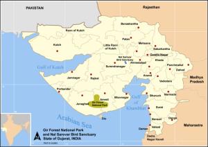 Map gujarat, Nal Sarovar